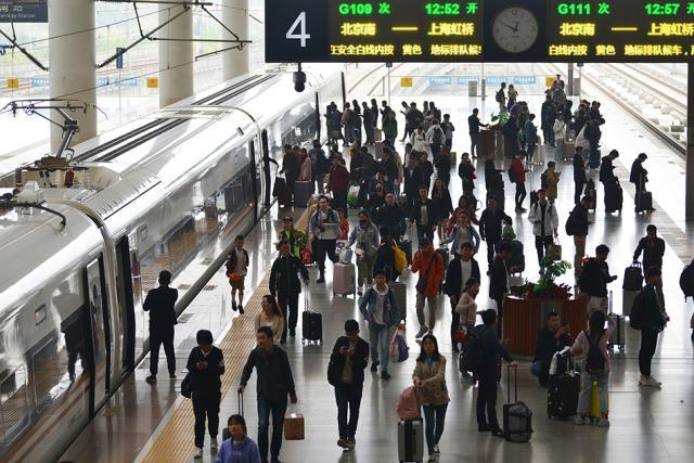 2019十一期间全国铁路累计发送旅客1.38亿人次