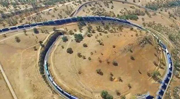 世界上最长的火车8个火车头682节车厢总长7353米